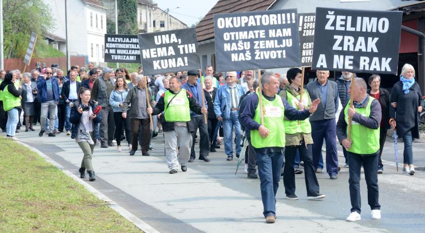 VIDEO: Prosvjed protiv odlagališta nuklearnog otpada