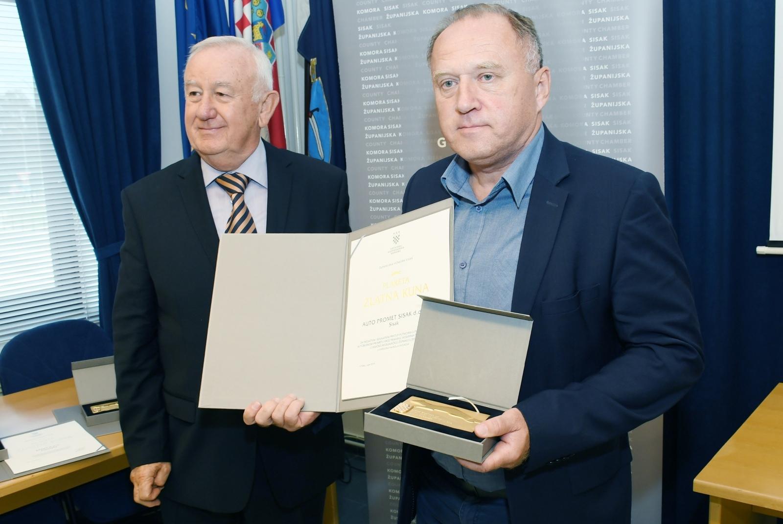 Najuspješnijim gospodarstvenicima Županije uručena priznanja Zlatne kune