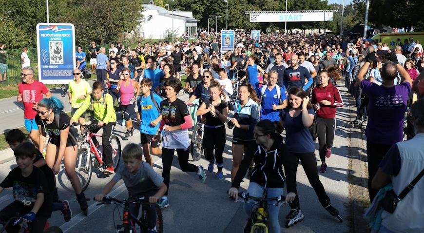Brojni Zagrepčani Jarunom trčali za oboljele od raka
